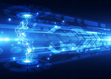 Abstract electric digital technology, concept background Stock Photos