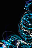Abstract electric light effect backgro Stock Photography