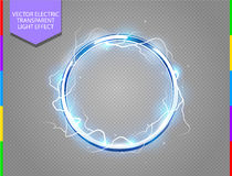 Abstract electric ring background Stock Photography