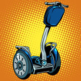 Abstract electric scooter with flashlight segway Stock Photo