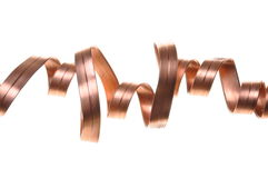Abstract electric wave. Copper line Royalty Free Stock Photography