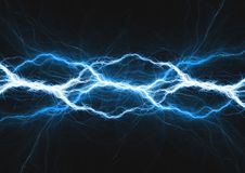 Abstract electrical background, blue plasma. Blue lightning, abstract electrical background, plasma and energy concept. Science abstract Royalty Free Stock Images