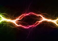 Abstract electrical lightning. Colorful plasma, abstract electrical lightning Royalty Free Stock Images