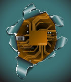 Abstract electronic background royalty free illustration