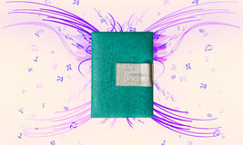 Abstract electronic books. Book in the media of instruction. Use of Education Royalty Free Stock Images