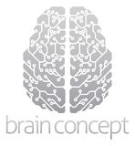 Abstract electronic brain Royalty Free Stock Images