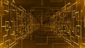 Abstract electronic circuit tunnel zoom in background LOOP stock footage