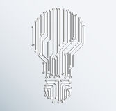 Abstract electronic computer circuit board light bulb icon.vecto. Abstract electronic computer circuit board light bulb Stock Photos
