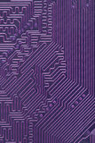 Abstract electronic computer violet background Stock Images