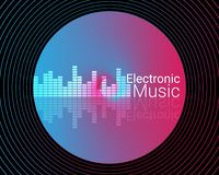 Abstract Electronic Music Background Illustration. Colorful Abstract Electronic Music Background Royalty Free Stock Photos