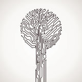 Abstract electronic tree Stock Photography