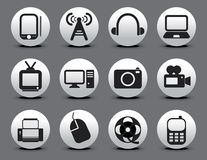 Abstract electronic web icon set Stock Image