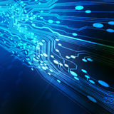 Abstract electronics blue background Royalty Free Stock Photos