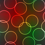 Abstract elegance background with lighting rings Stock Image