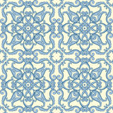 Abstract elegance floral seamless pattern. In blue color. Vector illustration Royalty Free Stock Photos