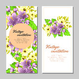 Abstract elegance invitation with floral background Stock Photo