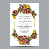 Abstract elegance invitation with floral background Stock Photography