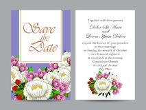 Abstract elegance invitation with floral background Royalty Free Stock Photos