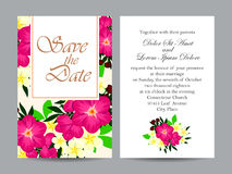 Abstract elegance invitation with floral background Stock Photos