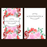 Abstract elegance invitation with floral background Royalty Free Stock Photography