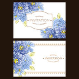 Abstract elegance invitation with floral background Royalty Free Stock Photo