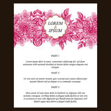 Abstract elegance invitation with floral background Stock Images