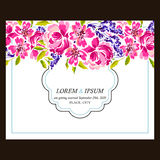 Abstract elegance invitation with floral background Royalty Free Stock Images