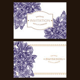 Abstract elegance invitation with floral background Stock Image