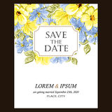 Abstract elegance invitation with floral background Royalty Free Stock Image