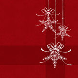 Abstract elegance red Christmas card Royalty Free Stock Photos