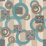 Abstract elegance retro seamless pattern patchwork design Stock Photo