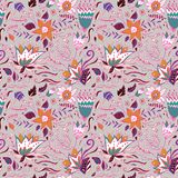 Abstract elegance seamless floral pattern. Stock Image