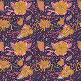 Abstract elegance seamless floral pattern on a dark background. Royalty Free Stock Photos