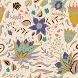 Abstract Elegance seamless floral pattern on a pastel background. Stock Images