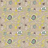 Abstract elegance seamless floral pattern on a pastel background. Stock Photos
