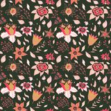 Abstract Elegance seamless floral pattern. Seamless patterns are used in textile design, postcards, websites, wallpapers. Bright colors. Beautiful flower Royalty Free Stock Photo