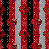 Abstract elegance seamless patchwork pattern with hearts backgro Royalty Free Stock Image