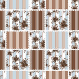 Abstract elegance seamless pattern brown roses flowers backgroun Stock Photo