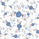 Abstract Elegance Seamless pattern with floral bac. Kground stock illustration