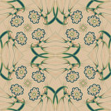 Abstract Elegance seamless pattern with floral Stock Photo