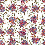 Abstract elegance seamless pattern with floral background. Royalty Free Stock Photos