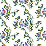 Abstract elegance seamless pattern with floral background. Stock Photography