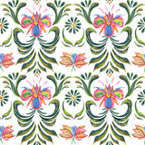 Abstract elegance seamless pattern with floral background. Royalty Free Stock Images