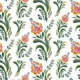 Abstract elegance seamless pattern with floral background. Stock Photos