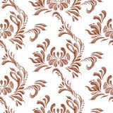 Abstract elegance seamless pattern with floral background. Stock Images