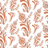 Abstract elegance seamless pattern with floral background. Royalty Free Stock Photo