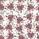 Abstract elegance seamless pattern with floral background. Royalty Free Stock Image