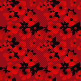Abstract elegance seamless pattern with floral background Royalty Free Stock Photo