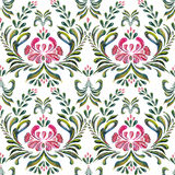 Abstract elegance seamless pattern with floral background. Stock Image