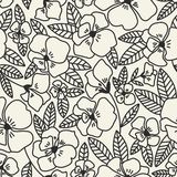 Abstract elegance seamless pattern with floral background vector illustration